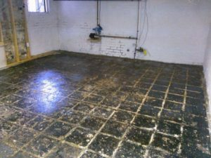 Type 1 Floor Tile Removal Set up and Final Removal