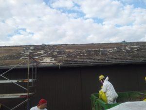 Asbestos roof abatement